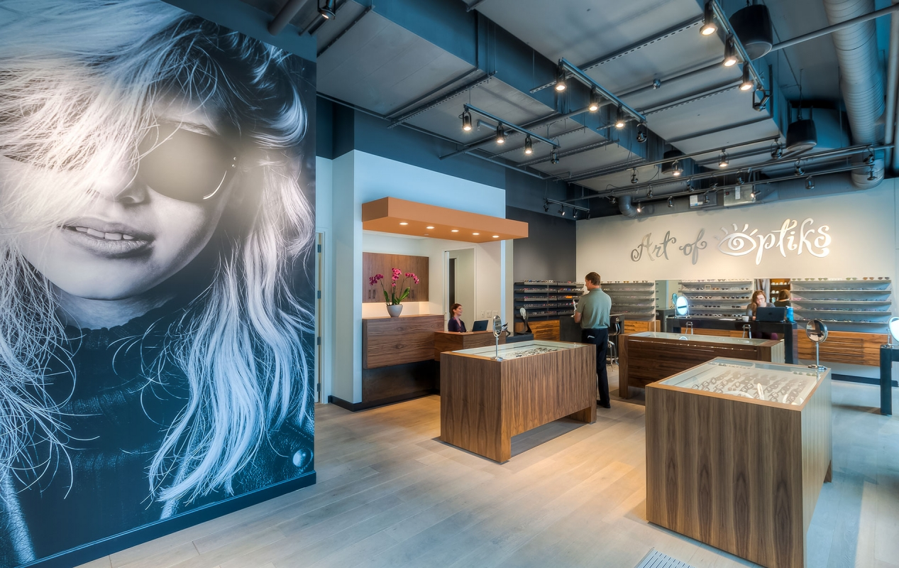 Art Of Optiks Interior with people