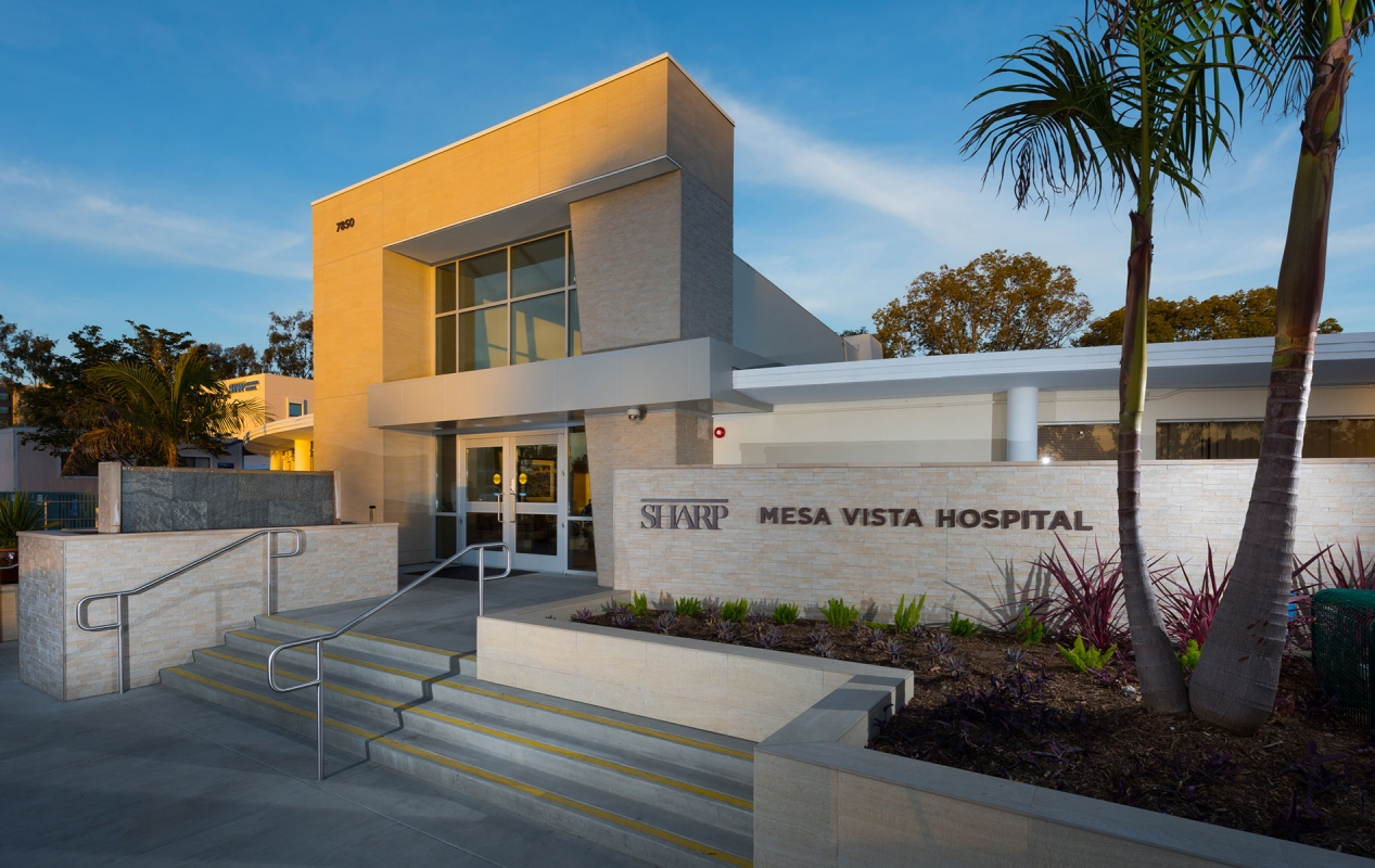 Sharp Mesa Vista Hospital Expansion and Renovation Exterior