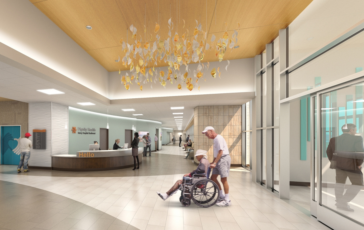 Dignity Health Mercy Southwest Campus Bed Tower Addition and Renovations Interior Lobby