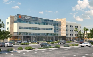 Dignity Health Mercy Southwest Campus Bed Tower Addition and Renovations Exterior Perspective