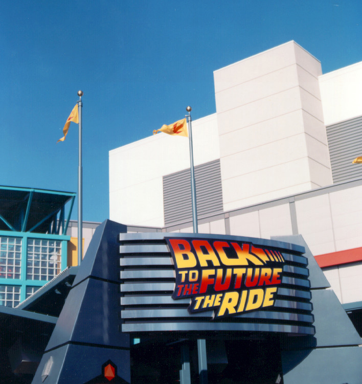 Universal Studios Back to the Future Exterior Logo Signage